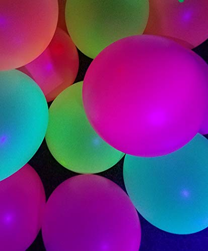 Glow in The Dark Balloons for Blacklight UV Party - Bright Color Pack of 25 -