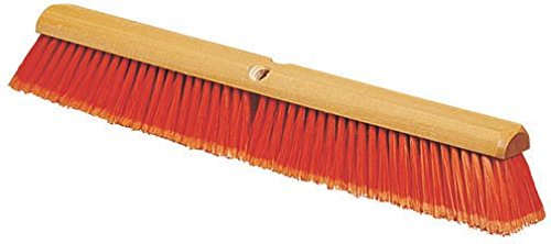 Carlisle 4501324 Flo-Pac Flagged Fine Floor Sweep, Polypropylene Bristles, 18'' Block Size, 3'' Bristle Trim, Orange (Pack of 12) by Carlisle