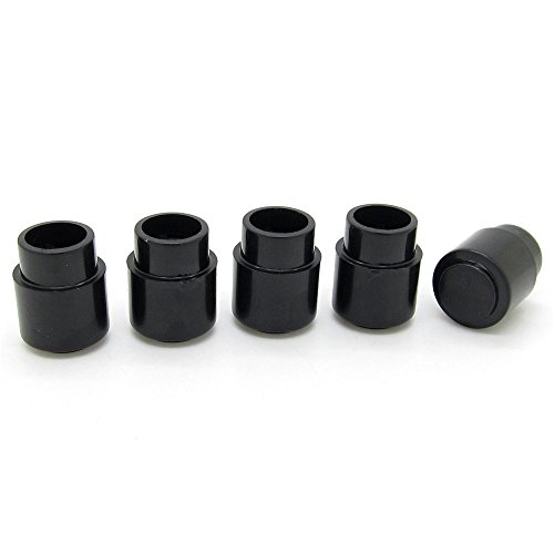 Guitar Toggle Switch Cap Tip Push on Top Hat Round Black Parts Pack of 5