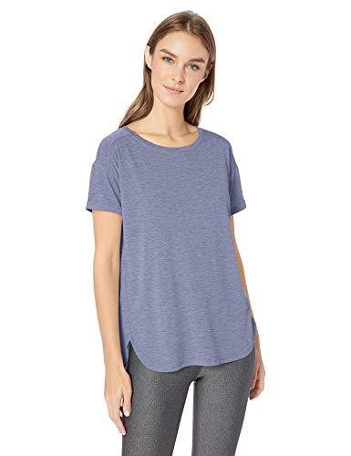 Amazon Essentials Women's Studio Relaxed-Fit Lightweight Crewneck T-Shirt, -night shadow blue, Medium
