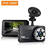 "Dash Cam, Mokcoo 1080P Car DVR Dashboard Camera Full HD with 3"" LCD Screen 170°Wide Angle, WDR, G-Sensor, Motion Detection and Loop Recording (Black)"
