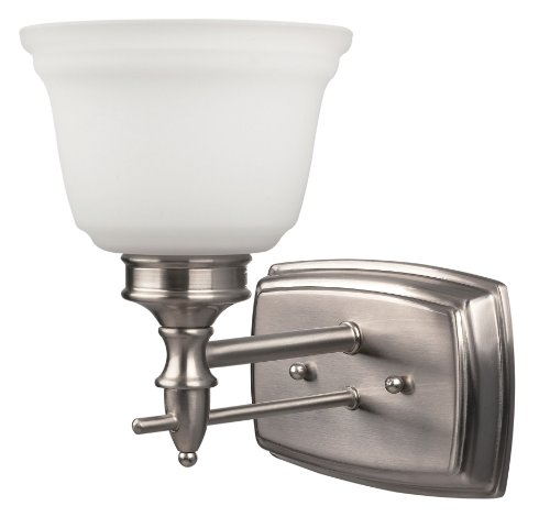 CANARM LTD. IVL364A01BPT Charles 1 Bulb Vanity Light, Brushed (Charles Bathroom Vanity Light)
