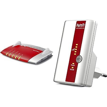AVM FRITZ!Box 7490 WLAN AC + N Router und AVM FRITZ!WLAN 310 Repeater Set