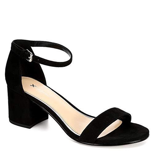 XAPPEAL Womens Harlow Block Heel Dress Sandal Shoes, Black, US 11 ()