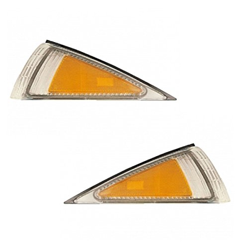 1995-1999 Chevy/Chevrolet Cavalier Corner Park Light Turn Signal Marker Lamp Pair Set Right Passenger AND Left Driver Side (1999 99 1998 98 1997 97 1996 96 1995 95)