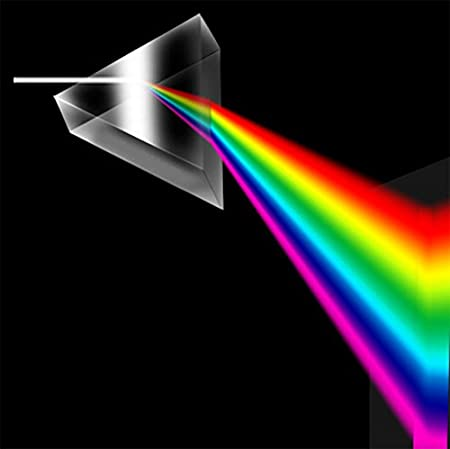 Samyo 6 Inch 150mm Optical Glass Triangular Prism Triple Prism for Photography Effects Physics Teaching Light Spectrum Optics Kits