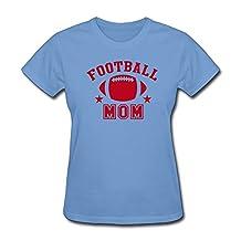 SHUIWU FOOTBALL MOM STAR T Shirt For Women XXL Sky