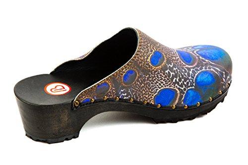 Bleu BKM1 Berkemann pour Femme 247 Mules 6nqXZw