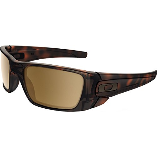 Oakley Men's Fuel Cell Non-Polarized Iridium Rectangular Sunglasses, Matte Brown Tortoise, 60 - Oakley Brown Sunglasses