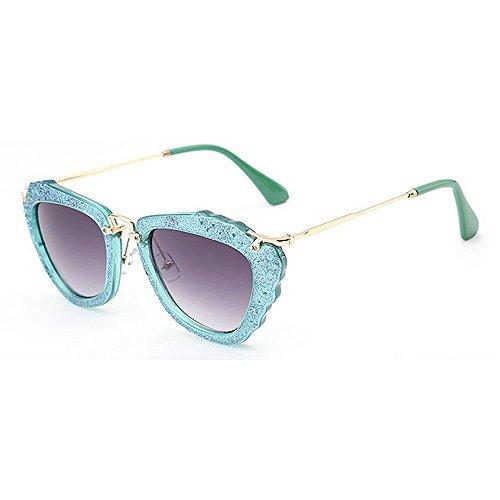 Sol Verano Playa la Gu de Conducir Mujeres del de del Azul Marco de Las la Azul para Las Vacaciones Brillante Gafas Protección Color para Peggy Irregulares Ultravioleta qfRxwtTUU