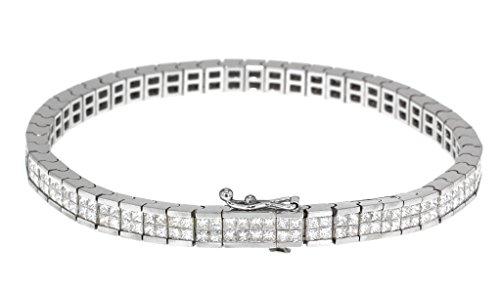Carissima Gold Bracelet chaîne 18carats (750/1000) Or Blanc Rond Diamant Femme 18 centimeters