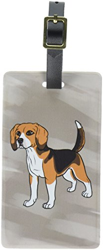 Graphics & More Beagle-Pet Dog Luggage Tags Suitcase Carry-on Id, White Beagle Luggage Tag
