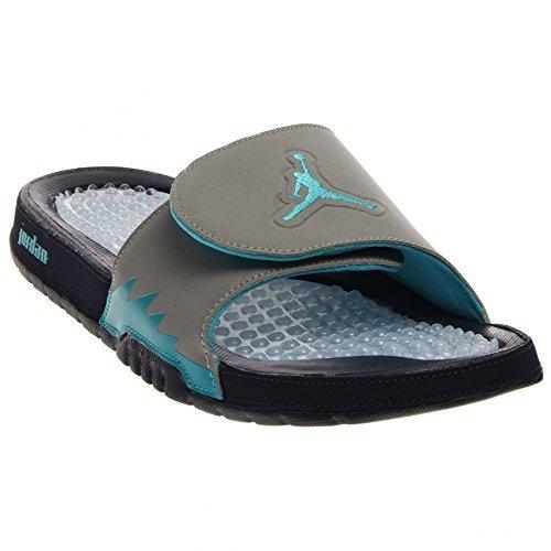 c4fa927de7a96c Nike Men s Jordan Hydro V Retro Navy Silver Turquoise 555501-405 (14 D(M)  US