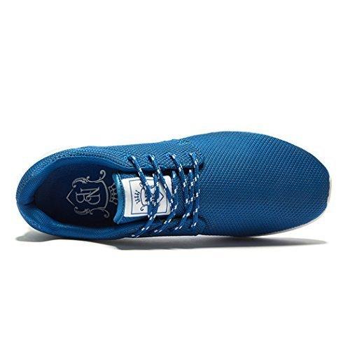 CHANGPING Mens Luftdurchlässigkeit Lace-up Mesh Obermaterial Stilvolle Einfachheit Leichte Walking Laufschuhe Blau