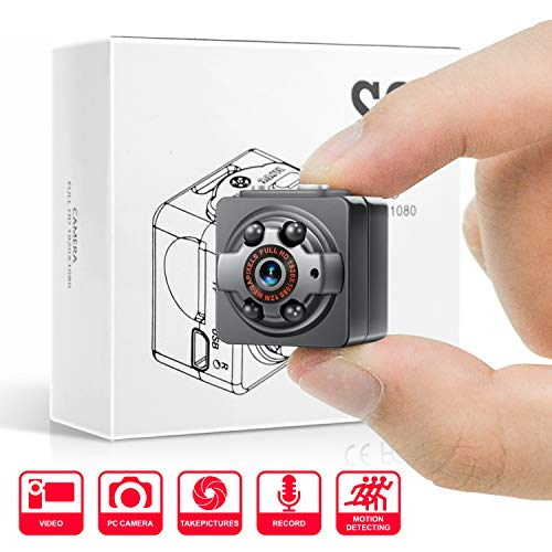 Mini Spy Hidden Camera,1080P Portable Metal Housing HD Nanny Cam with Night Vision and Motion Detective,Perfect Indoor Covert Security Camera for Home and Office