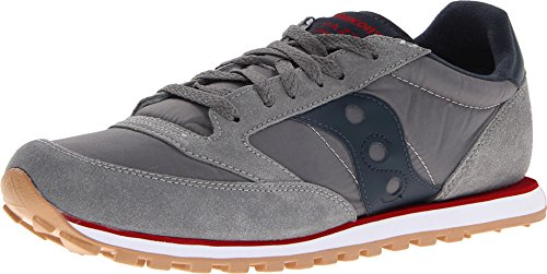 Saucony Jazz Low Pro - Saucony Originals Men's Jazz Low Pro Sneaker,Charcoal/Red,10.5 M US
