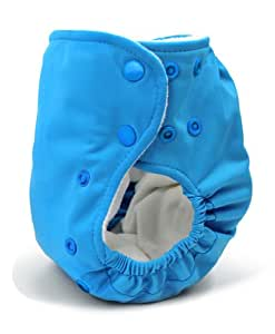 BabyKicks Basic Cloth Diaper Snap Closure, Azure
