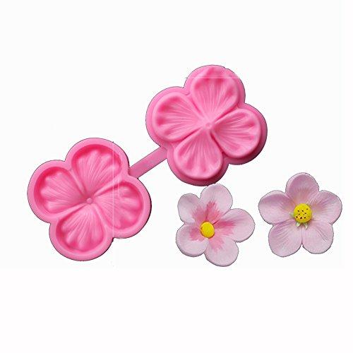 SK Flower Blossom Veiner Fondant Cake Chocolate Sugarcraft Mould Mold Tool 1Pcs (Style 1)