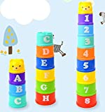Oopsy Babies Educational Stacking Cups Assorted Number, Letter, and Color
