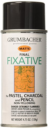 Fixative Pastel (Grumbacher 649 4-3/4-Ounce Final Fixative, Matte Spray Can)