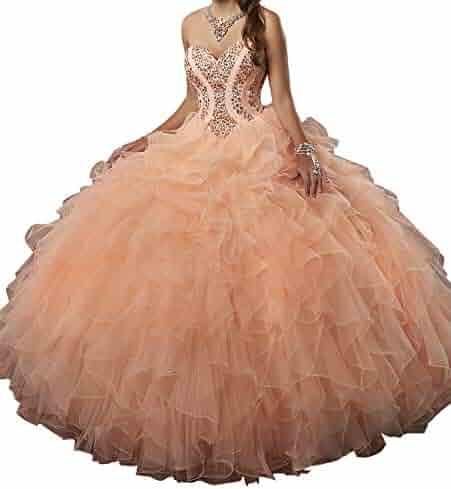 d8ffeaadab Yang Sweetheart Girls Rhinestone Ball Gowns Women Quinceanera Dresses