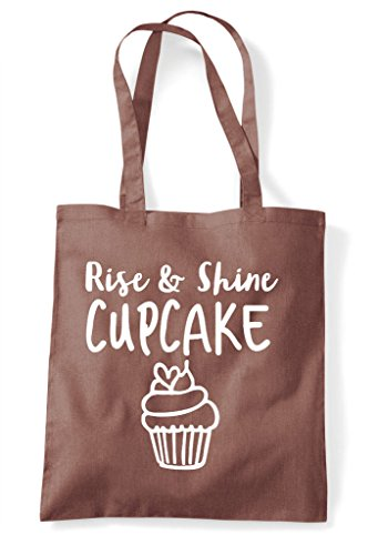 Shopper Chestnut Bag Cupcake Shine Tote And Rise FgB8qUw