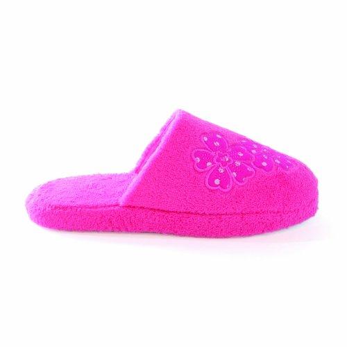 Zapatillas de estar por casa de polar para mujer Rosa