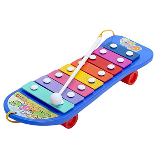 George Jimmy Instrumento Musical del monopatín Educación niños de Juguete Arpa con el Martillo Azul
