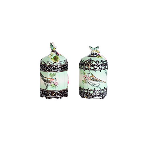 Fitz and Floyd English Garden Salt and Pepper Set
