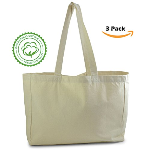 Canvas Grocery Tote - 1