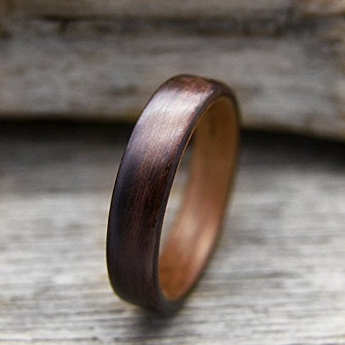 Rosewood Walnut - Indian Rosewood and Walnut Bentwood Ring