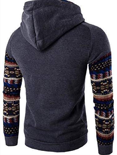 Sodossny-au Hommes Capuche Style Ethnique Manches Raglan Sweat-shirts Occasionnels 2
