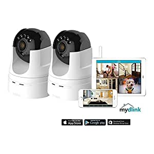 2 Pack D-Link DCS-5222L 720p Pan Tilt Wireless Surveillance Camera w/ Remote App