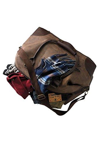 Kingsize Men's Big & Tall Oversized Weekender Bag, Olive Big-0