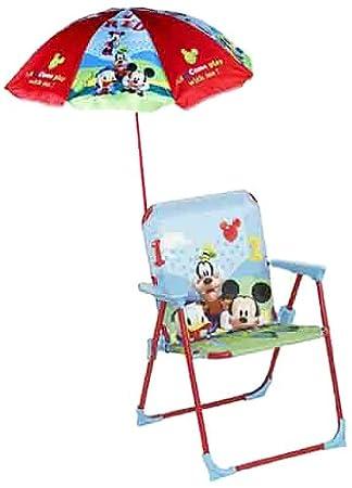 ColorBaby - Silla infantil plegable, con sombrilla, Mickey ...