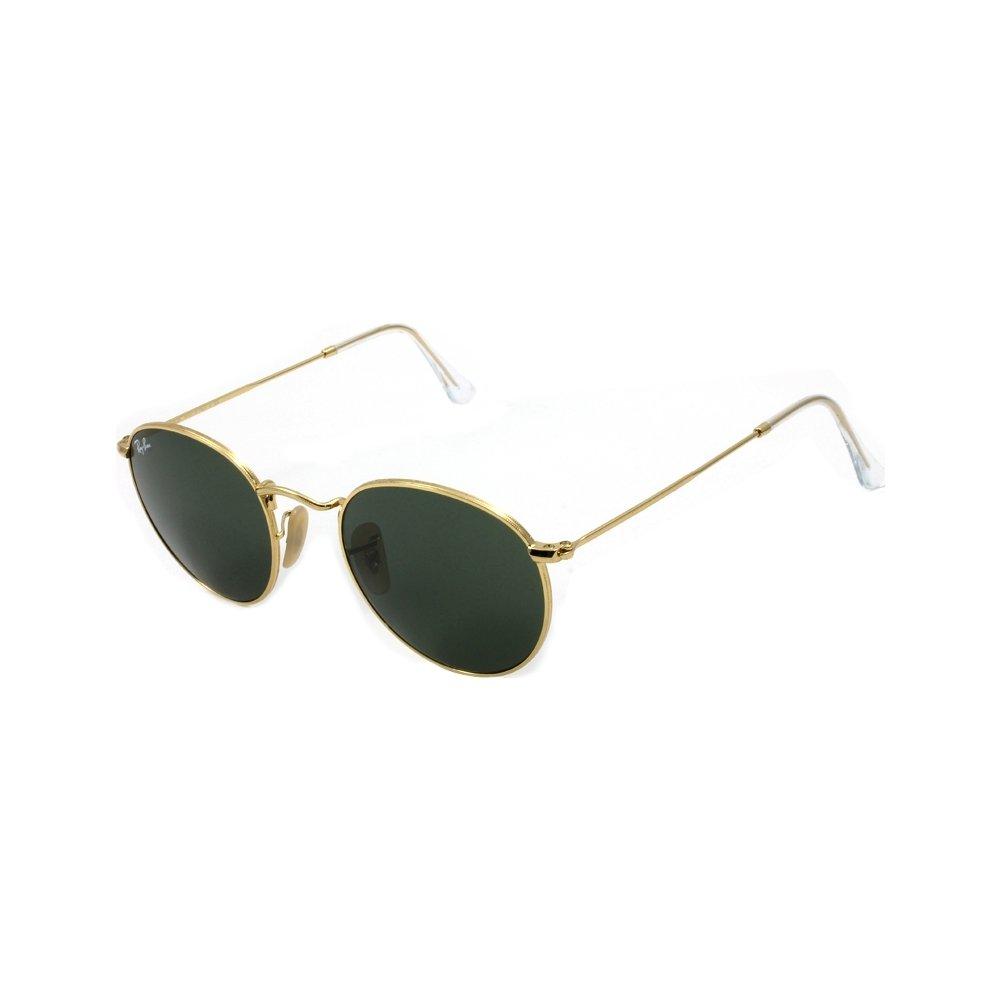 94be9b78bfb2 Amazon.com  Ray-Ban Round Metal Unisex Sunglasses RB3447-001 Gold  E50B21T145 M US  Clothing