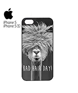 Bad Hair Day Llama Mobile Cell Phone Case Cover iPhone 5&5s White