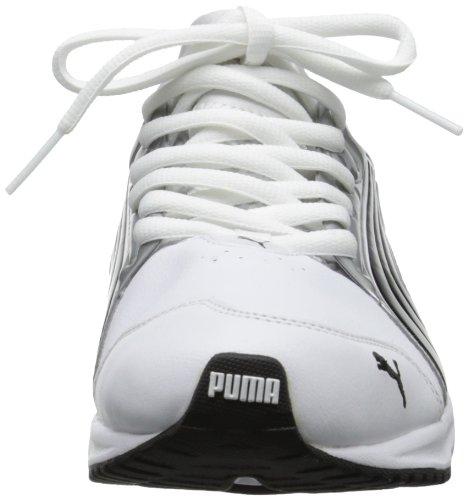 Puma Uomo Powertech Fiammata Scarpe Da Corsa Metalliche Bianco / Argento Puma