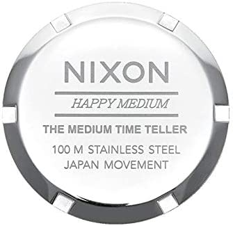 NIXON Women's Stainless Steel Quartz Watch with Leather Strap, Black, 16 (Model: A1172-3188-00)