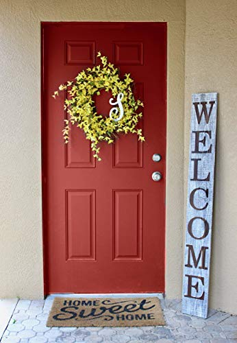 SmithFarmCo Welcome Sign for Front Porch/Front Door Made with Real Wood 5 feet Tall Large Rustic Farmhouse Style (Farmhouse Distressed)