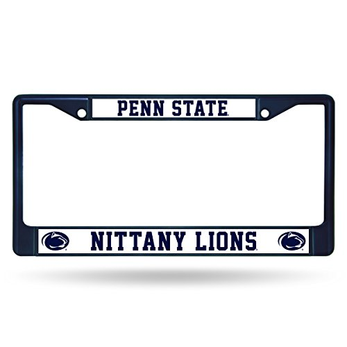 Rico Industries NCAA Penn State Nittany Lions Team Colored Chrome License Plate Frame, Navy