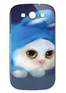 Case Fun Samsung Galaxy S3 (I9300) Case - Vogue Version - 3D Full Wrap - Cat in Rabbit Disguise