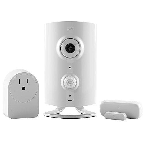 Piper classic All-in-One Security System with Video Monitoring Camera with Door/Window Sensor and Smart Switch, White Piper
