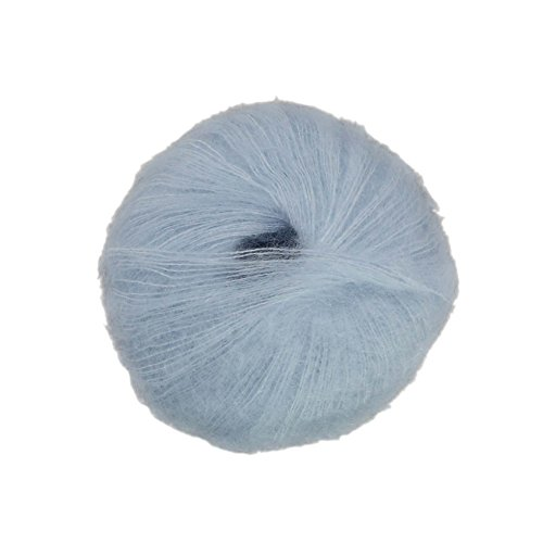 Sugar Bush Yarn Drizzle Fine Weight, Blue Haze - Kid Mohair Knitting Yarn