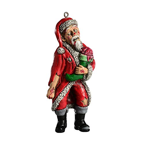 HorrorNaments Zombie Santa Horror Ornament - Scary Prop and Decoration for Halloween, Christmas, Parties and Events