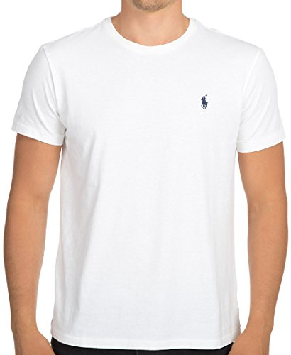 Polo Ralph Lauren Mens Crew Neck T-shirt (Medium, White)
