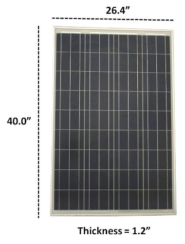 WindyNation 200 Watt Solar Panel Kit: 2pcs 100W Solar Panels + P30L LCD PWM Charge Controller + Solar Cable + MC4 Connectors + Mounting Brackets for Off-Grid RV Boat by WindyNation (Image #6)