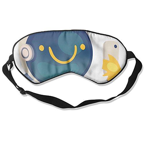 WUGOU Sleep Eye Mask Pilot Cartoon Lightweight Soft Blindfold Adjustable Head Strap Eyeshade Travel Eyepatch