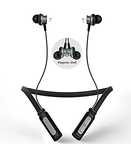 Wireless Bluetooth Headphone,Langsdom Hifi Stereo Magnetic Neckband Earphones,Sweatproof Sports In-Ear Earbuds with Microphone and Volume Control for Gym,Running, Jogging, Workout(L9 (Jogging Mp3 Player Bluetooth)