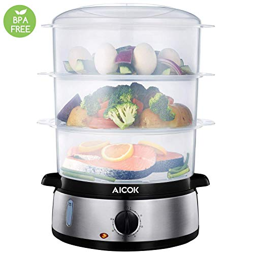 Aicok Food Steamer, 9.5 Quart Vegetable Steamer